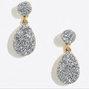 J Crew Glitter Dangle Earrings